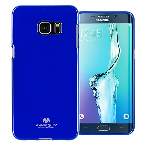 (GOOSPERY Marlang Marlang Galaxy S6 Edge Plus Case - Navy Blue, Free Screen Protector [Slim Fit] TPU Case [Flexible] Pearl Jelly [Protection] Bumper Cover for GalaxyS6EdgePlus, S6EP-JEL/SP-NVY)