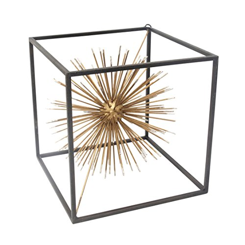 Sagebrook Home Metal Starburst Table Sculpture,...