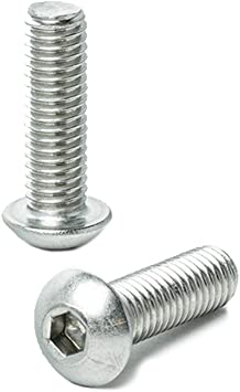 10-24 x 1 Button Head Socket Cap Screws Machine Thread Quantity 50 By Fastenere Lightning Stainless Allen Socket Drive Bright Finish Stainless Steel 18-8 Full Thread