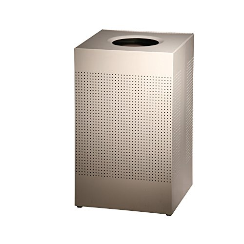 Rubbermaid Commercial FGSC18EPLDP Silhouette Designer Wastebasket, Square Open Top, 29-gallon, Desert Pearl by Rubbermaid Commercial Products