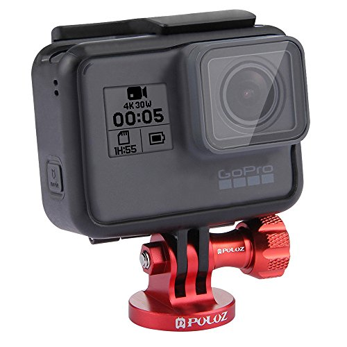 (Finedayqi ❤ PULUZ CNC Camcorder Tripod Mount Adapter for GoPro Hero 6 5 4 3/3 2 1 (Red))