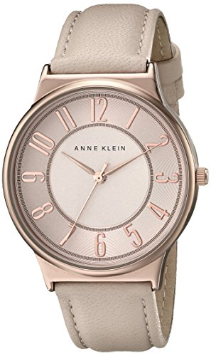 Anne Klein Womens AK1928RGLP Easy To Read Dial Blush Pink Leather Strap Watch