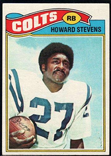 Football NFL 1977 Topps #328 Howard Stevens Colts (1977 Topps Card Colts)