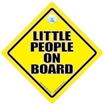 Amazon.com: Little People On Board coche Señal, Little ...