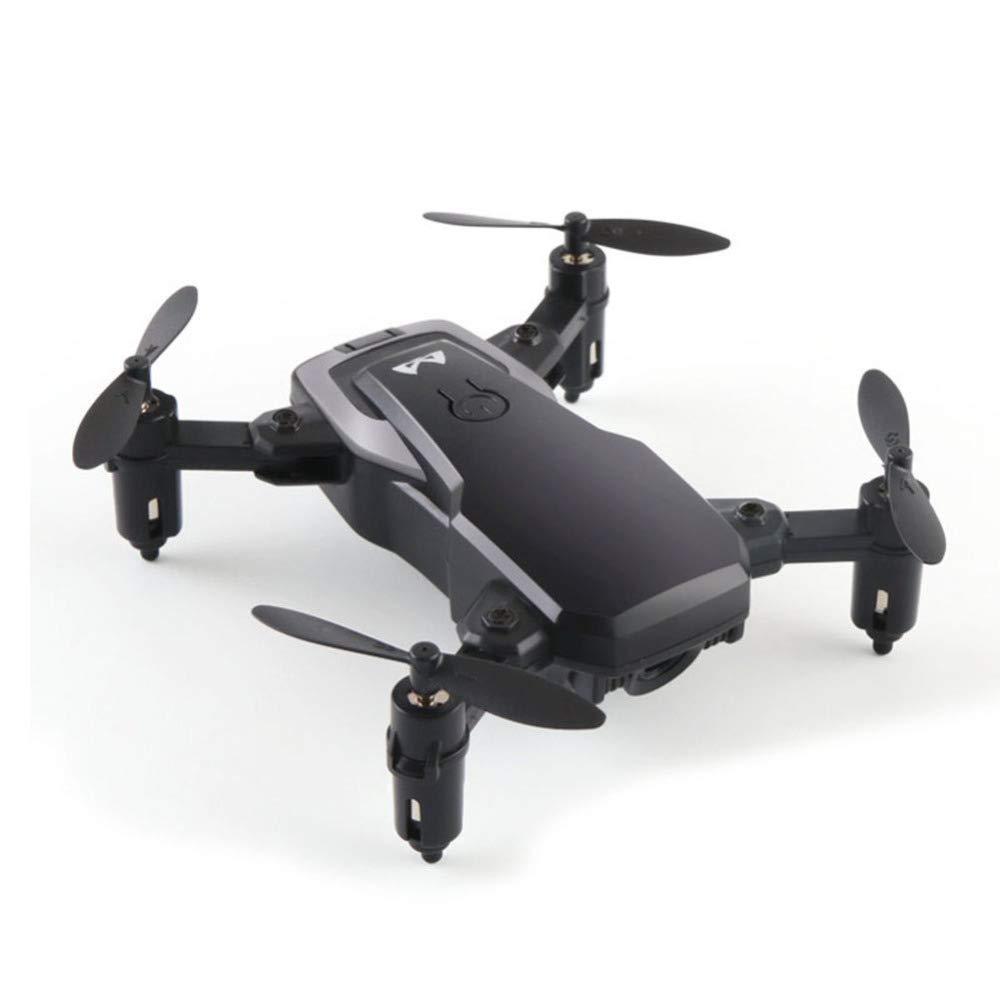 YFCTASQX Drone Fotografía Aérea Mini Avión de Cuatro Ejes, Batería de Larga Duración, Juguete HD Control Remoto,Negro,WRJ