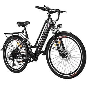 Tooluck E-Bike Bici Elettrica, Bicicletta Elettrica da 26 Pollici 250W City Bike con Batteria al Litio 36V 8AH, Professionale a 7 velocità (Consegna Entro 5-7 Giorni)
