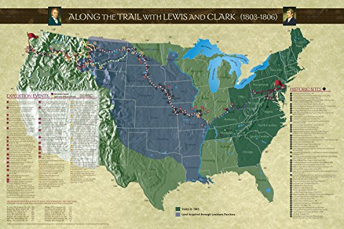 Lewis & Clark Expedition Map - Along the Trail with Lewis and Clark Poster, Revised Edition