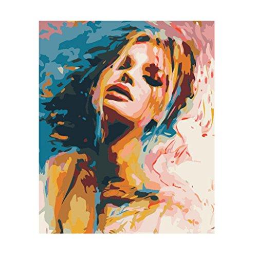 Perfk DIY絵 数字油絵 デコレーション 女の子 壁掛け