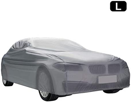 PEVA with Cotton Sedans up to 170 Basics Silver Weatherproof Car Cover
