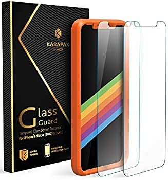 2-Pk. Anker KARAPAX iPhone X Screen Protector GlassGuard