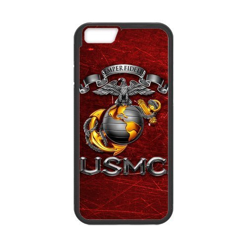 (Generic USMC Marines Semper Fi Camouflage Marine Corps Logo Plastic Cell Phone Cases for iPhone 6 case (4.7 inch))