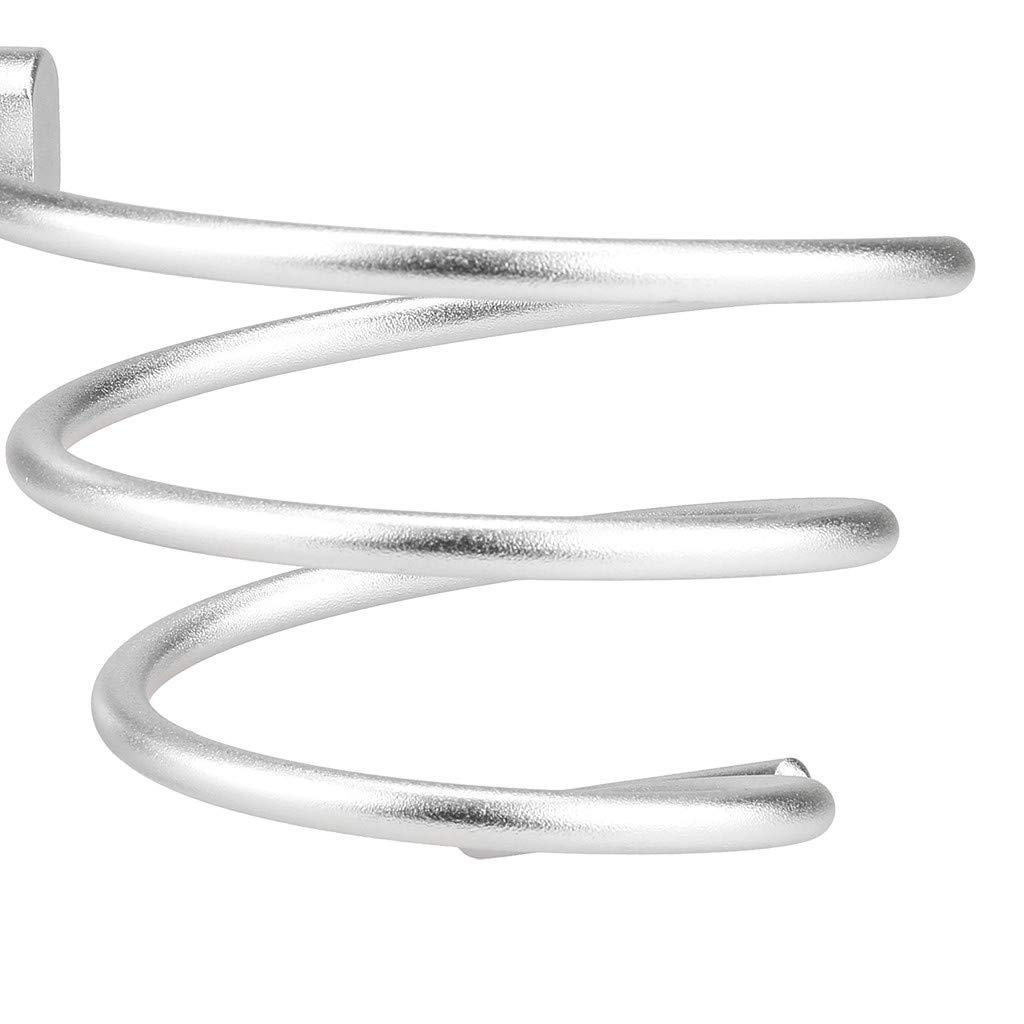 Aluminium kashyk Bad-Serie Haartrocknerhalter,F/önhalter robustem Befestigen ohne Bohren Kabelhalter Haartrockner Halterung Ohne Bohren F/önhalter Spirale Form-langlebig Badzubeh/ör//zur Wandmontage