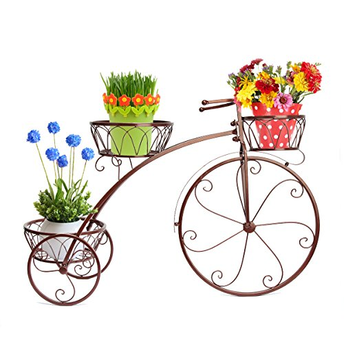 Dazone Bronze Vintage Parisian Style Tricycle 3 Tier Whit...