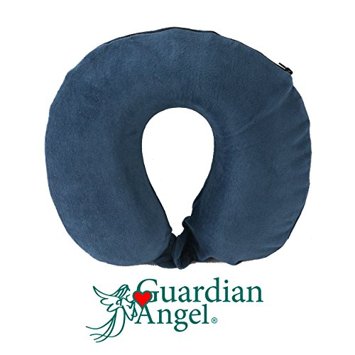 Guardian Angel Deluxe Memory Foam Neck Travel, Plane,Car, Home Support Pillow - Premium Support - Skymall Stores