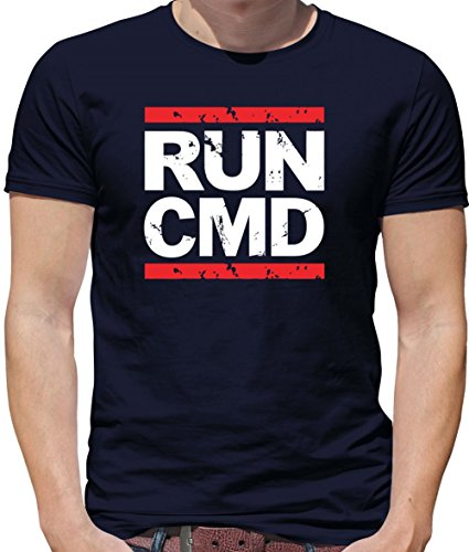 Dressdown Run CMD - Mens Crewneck T-Shirt- Navy 2XL