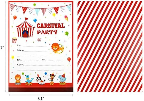 28 Carnival Circus Party Invitations First Baby Shower