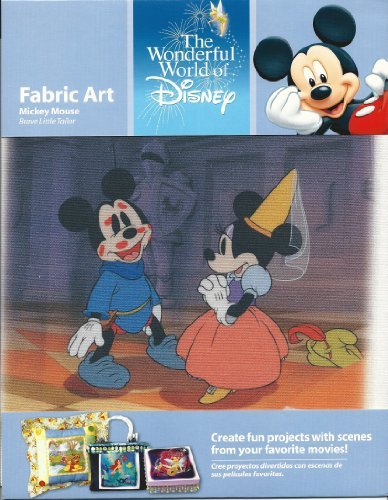 The Wonderful World of Disney Fabric Art Mickey Mouse the Brave Tailor