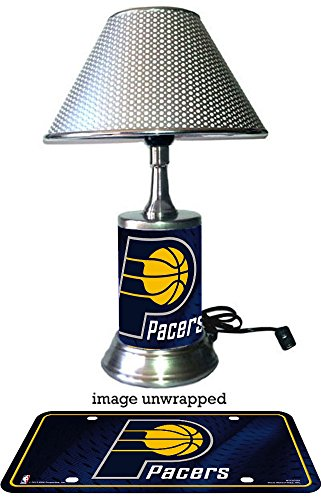 Indiana Pacers Lamp with chrome shade