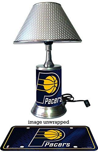 Indiana Pacers Lamp (Indiana Pacers Lamp with chrome shade)