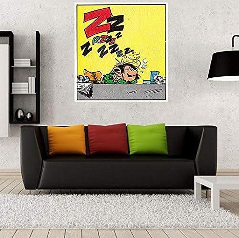 Fabulous Poster Affiche Gaston Endormie Bande Dessinee Francaise Vintage