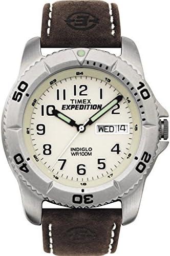 Timex Expedition T46681 - Reloj de Cuarzo para Hombres, Correa de Piel, Color marrón