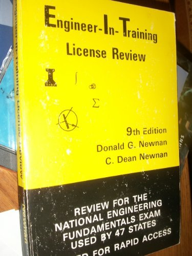 Engineer-in-training license review: Review for the national engineering fundamentals examination used by 47 States