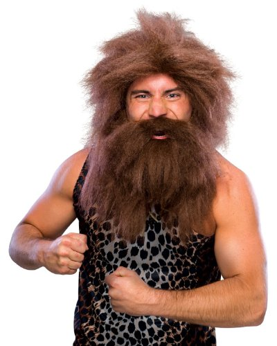 Rubie's Costume Characters Caveman Beard And Set Wig, Brown, One (Set Costumes Wig)