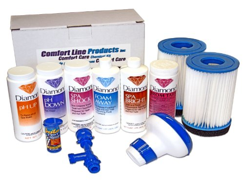 Combo Care Kit Combination Chemical Kit and 2-Pack Filters, Drain and fill Kit