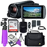 Canon VIXIA HF R80 Camcorder with Sandisk 64 GB SD Memory Card + Accessory Bundle