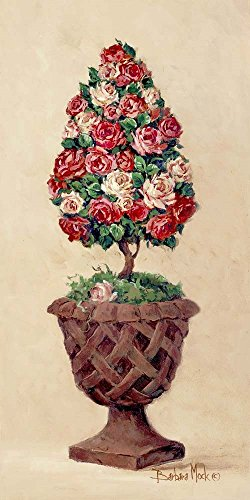 Rose Topiary II by Barbara Mock Art Print, 7 x 14 inches