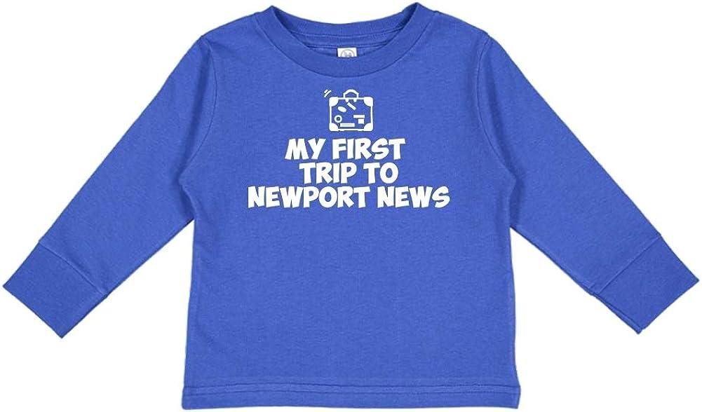 My First Trip to Newport News Toddler//Kids Long Sleeve T-Shirt