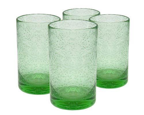 Artland Iris Highball Glasses, Light Green, Set of 4