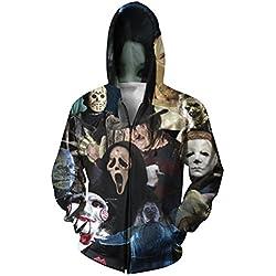 Arrival Harajuku Zip-Up Men Hoodies 3D Printed Sweatshirt Jacket Women Men Casual Zipper Outerwear Black Coat Plus Size XXL