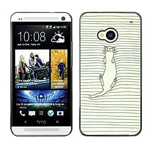 Dragon Case - FOR HTC One M7 - in my heart - Caja protectora de pl??stico duro de la cubierta Dise?¡Ào Slim Fit