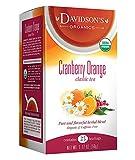 Davidson's Tea Cranberry Orange, 25-Count Tea Bags , 1.77 oz(Pack of 6)