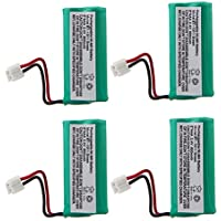 4 x Telephone Battery for Uniden BT-1011 BT-1018 BT1022 BT-1031 BBTG0743001, Fit AT&T/Lucent BT18433 BT184342 BT284342 CS6219 SL82218 SL82418 – 2.4V 800mAh Rechargeable Cordless Phone Battery