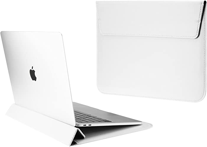 "TOP CASE - Synthetic Leather Ultra Slim Sleeve Case for 13"" Slim Laptop/MacBook Pro 13"" Retina (2012-2015) / MacBook Pro 13"" (2016/2017) / MacBook Air 13"" / iPad Pro / 13"" Ultra Book (White)"