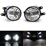iJDMTOY (2) OEM Spec Xenon White High Power CREE XB-D LED Projector Fog Lights Set For Lexus IS GS CT LX RX Toyota Camry Venza Prius Sienna, etc
