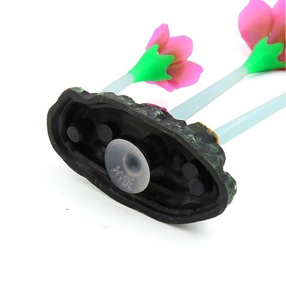 Amazon.com : eDealMax grueso tallo de la planta de la decoración de Flores brillantes efectos artificiales Para peces de acuario tanque : Pet Supplies