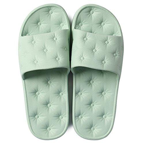 Home estate sandali e morbido di DogHaccd chiaro scarpe donne home plastica interna gli pantofole uomini bagni balneazione la pantofole fondo Verde matura le 5xqxwOvCz