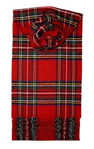Lochcarron Royal Stewart Tartan Lambswool Scarf ()