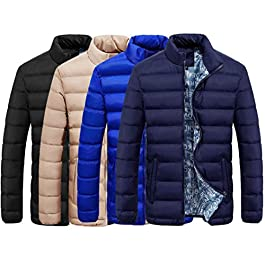 BCDshop Men Down Jacket Coat Winter Warm Slim Thick Casual Outerwear Parka Blouse