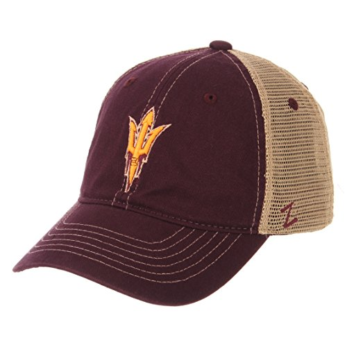 Zephyr NCAA Arizona State Sun Devils Men's Institution Relaxed Cap, Adjustable, Maroon ()