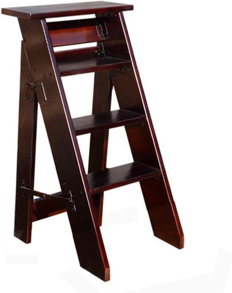QQXX Escalera Plegable en Espiga Toda la Madera Maciza decoración de una Cara Casa de Cuatro Capas/Cinco Capas de Forma Escalera, Madera: Amazon.es: Hogar