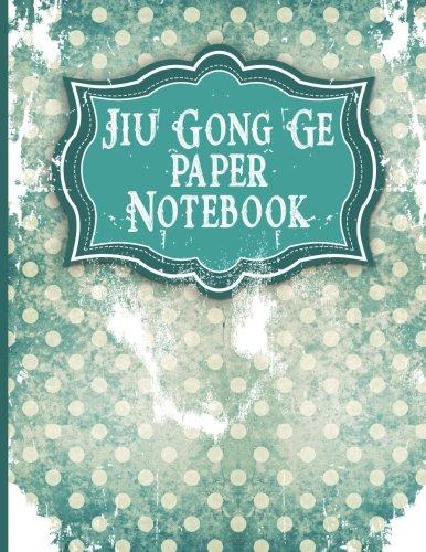 Jiu Gong Ge Paper Notebook: Chinese Writing Notebook, Jiu Gong Ge Graph Paper - Vintage Paper Cover (Volume 3)