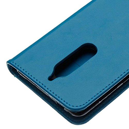 COWX Nokia 5 Hülle Kunstleder Tasche Flip im Bookstyle Klapphülle mit Weiche Silikon Handyhalter PU Lederhülle für Nokia 5 Tasche Brieftasche Schutzhülle für Nokia 5 schutzhülle 2bluqL