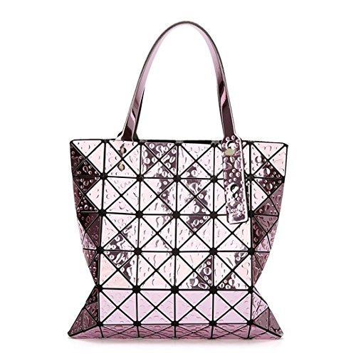 Dames Laser Style Purple Miroir Bao Géométrique Sacs Style main à Designer Derniers Baobao Seau 1 Silver Bao Styles Unique Sacs 2 Femme Sacs Diamant 6Svgqx81