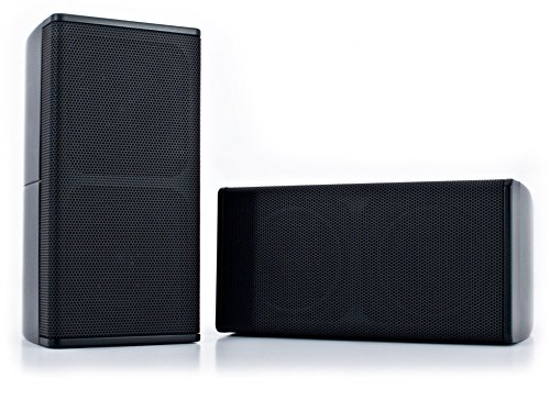 - Pure Resonance Audio UniSat-B-Pair Mini Cube Small Center Channel and Satellite Speaker (Black)