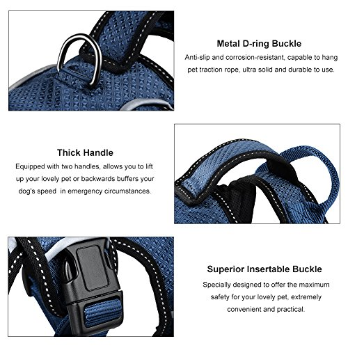 Petacc-Breathable-Pet-Harness-Adjustable-Dog-Chest-Strap-Practical-Dog-Vest-with-D-ring-Buckle-Suitable-for-Medium-and-Large-sized-Dogs