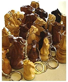 Amazon.com: Chess Piece Charm Keychains, King and Queen Set ...